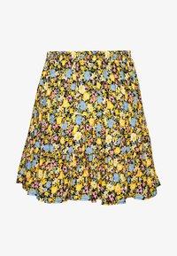 Miss Selfridge - FLORAL TIERED - A-line skirt - black - 0