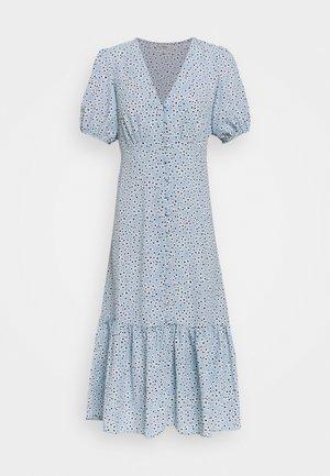 FLORAL DRESS - Denní šaty - blue