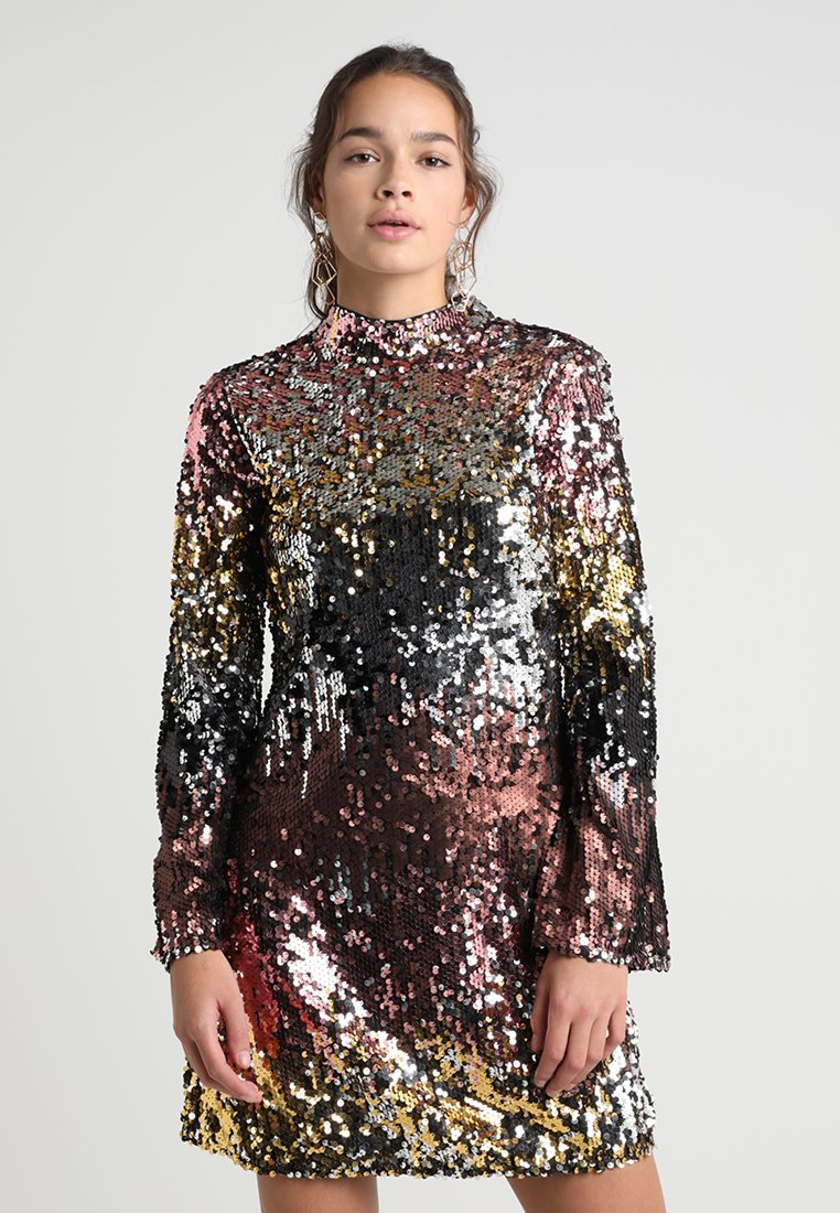 Miss Selfridge - OMBRE SEQUIN MINI - Cocktailkleid/festliches Kleid - pink/gold