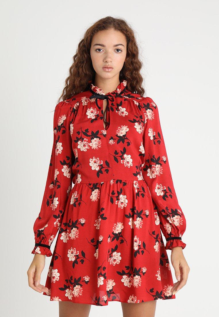 Miss Selfridge - TRIM TEA DRESS - Day dress - red