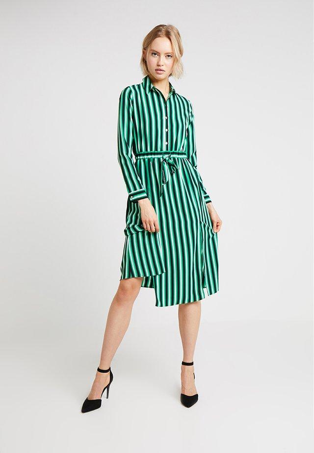 STRIPE DRESS - Shirt dress - green