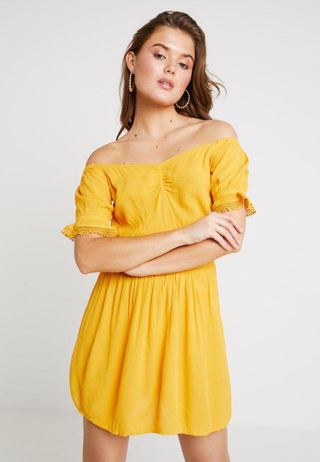 BARDOT CHEESECLOTH MINI - Day dress - ochre