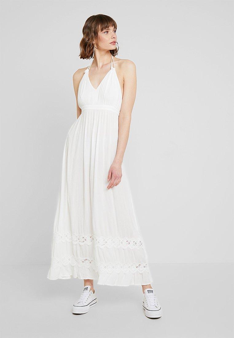 Miss Selfridge - INSERT HALTER NECK BEACH DRESS - Maxikleid - ivory