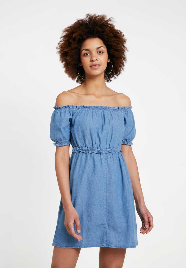 Miss Selfridge - BARDOT DRESS - Spijkerjurk - blue