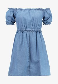 Miss Selfridge - BARDOT DRESS - Spijkerjurk - blue - 4