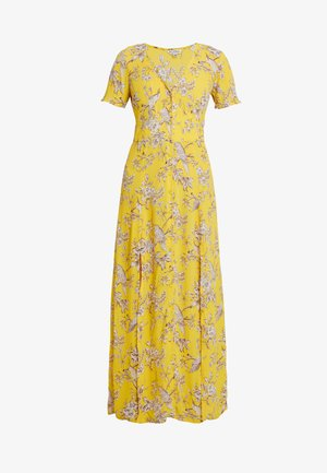 BIRD BUTTON THROUGH DRESS - Maxikleid - yellow