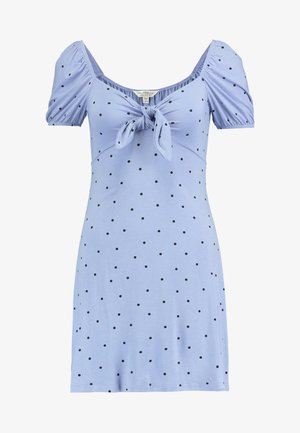 SPOT PRINT TEA DRESS - Jerseyjurk - blue