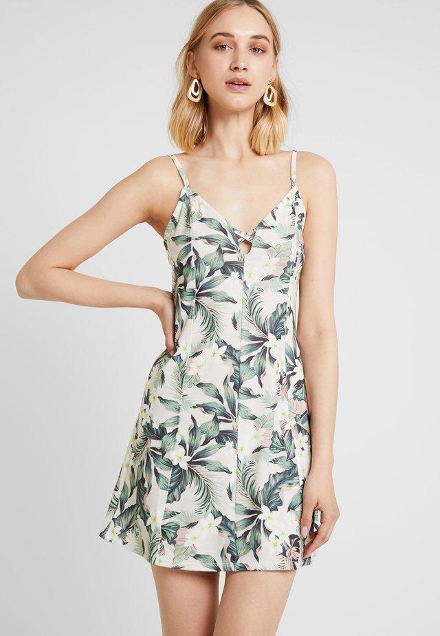 TROPICAL STRAPPY MINI DRESS - Vestito di maglina - ivory