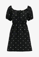 MILKMAID EMBROIDEREDTEA DRESS - Vapaa-ajan mekko - black