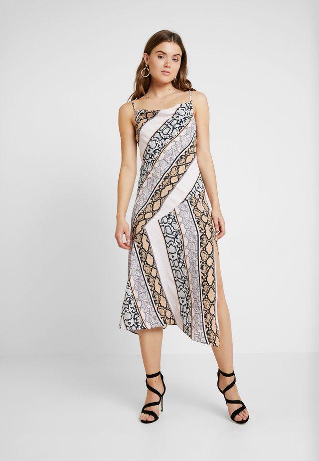SNAKE SPLICED ASYM SLIP DRESS - Maxi dress - grey