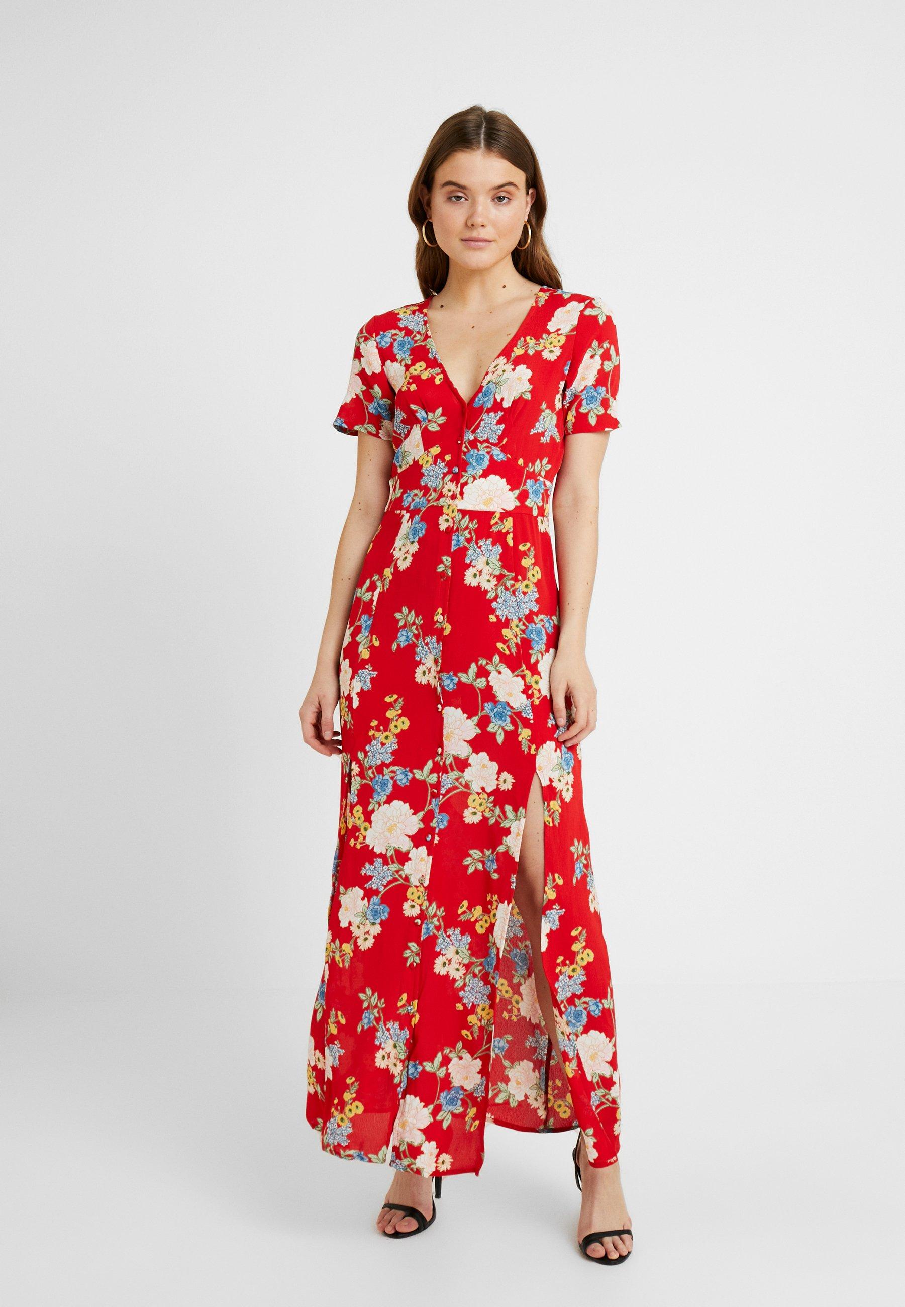 Miss Selfridge Robe longue - rouge red