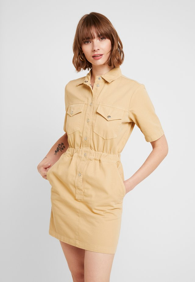 UTILITY DRESS - Shirt dress - tan