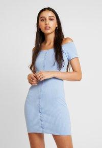 Miss Selfridge - BUTTON DRESS - Robe fourreau - blue - 0