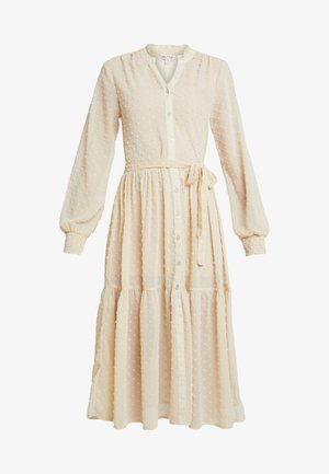 TIERED DOBBY DRESS - Shirt dress - nude
