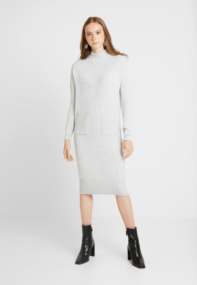 POCKET MIDI DRESS - Jumper dress - grey marl