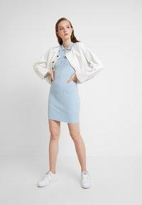 Miss Selfridge - ZIP MINI DRESS - Strikket kjole - blue - 2