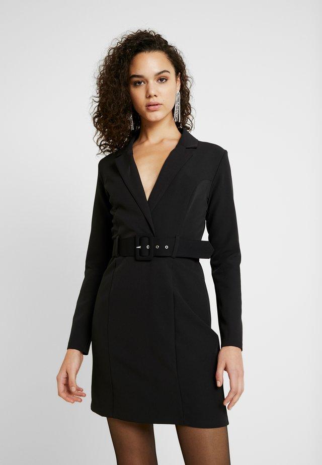 TUX DRESS - Shift dress - black