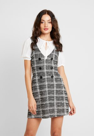 2 IN 1 MINI DRESS - Stickad klänning - grey