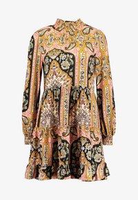 Miss Selfridge - SHEERED TIERED PAISLEY DRESS - Hverdagskjoler - pink - 4