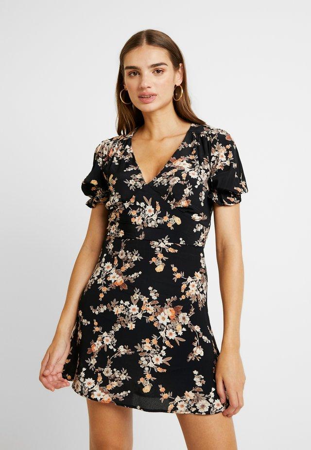 DITSY TEA DRESS - Vestito estivo - black