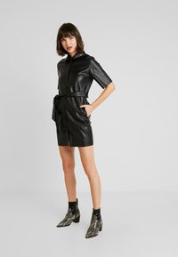 Miss Selfridge - DRESS - Shirt dress - black - 2