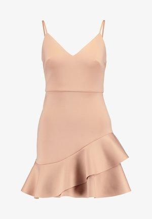 SCUBA PEPLUM DRESS - Vestito estivo - nude