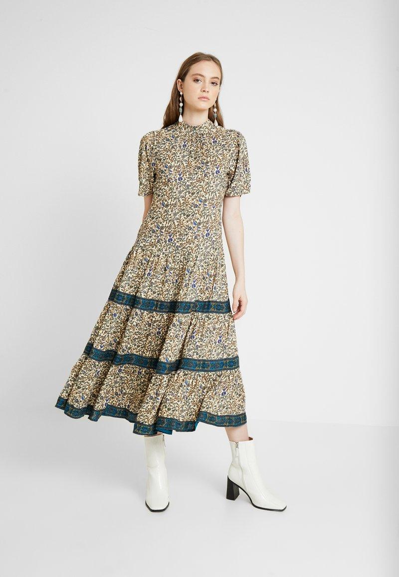 Miss Selfridge - CREAM FLORAL TIERED MIDI DRESS - Maxi dress - cream
