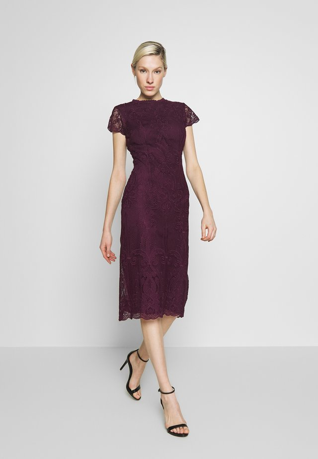 MIDI DRESS - Cocktail dress / Party dress - burgundy