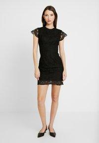 Miss Selfridge - MINI DRESS - Vestito elegante - black - 0