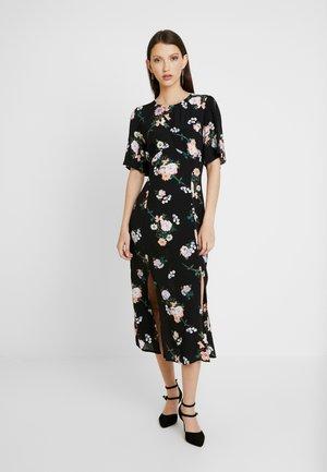 FLORAL DRESS - Vapaa-ajan mekko - black