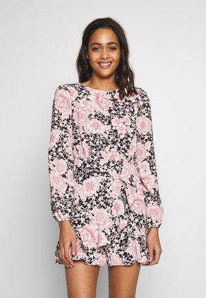 CLARABELLE FRILL SKIRT MINI DRESS - Day dress - black