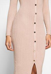 Miss Selfridge - BUTTON SPLIT DRESS - Jumper dress - oatmeal - 4