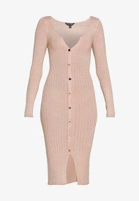 Miss Selfridge - BUTTON SPLIT DRESS - Jumper dress - oatmeal - 3