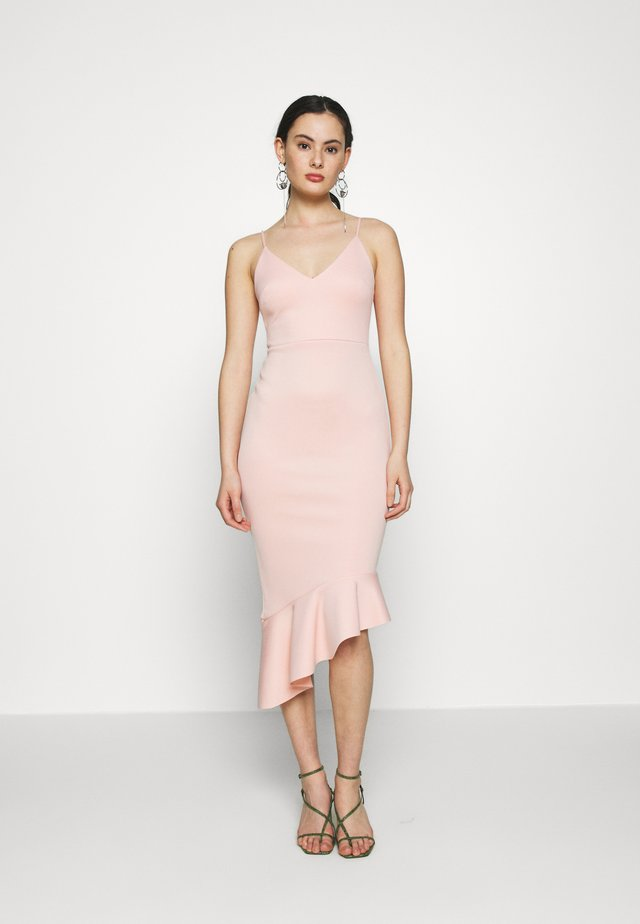 PEPLUM MIDI DRESS - Juhlamekko - blush