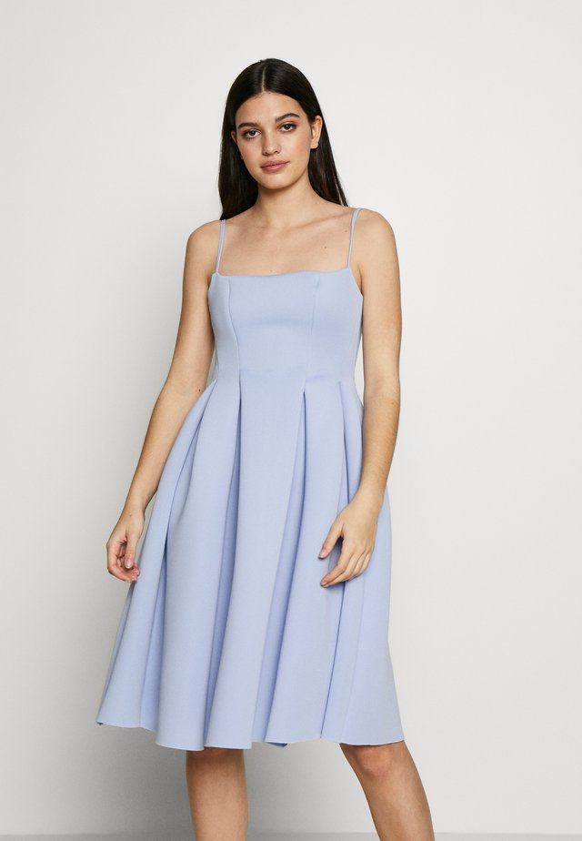 SQUARE NECK MIDI DRESS - Vestido de cóctel - cornflower blue