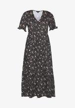 TEXTURED DRESS - Jersey dress - black