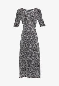Miss Selfridge - PLISSE MIDI DRESS UPDATE - Denní šaty - black - 4