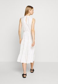 Miss Selfridge - HIGH NECK SPOT MIDI - Day dress - white