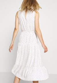 Miss Selfridge - HIGH NECK SPOT MIDI - Day dress - white - 3