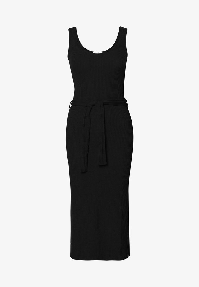 SCOOP COLUMN DRESS - Vapaa-ajan mekko - black