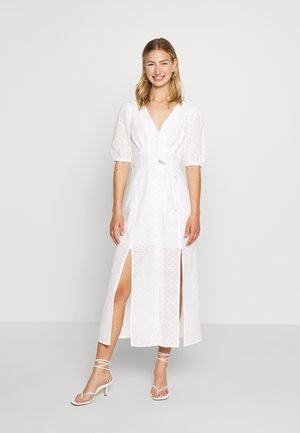 BRODERIE BUTTON THROUGH - Vestido camisero - ivory