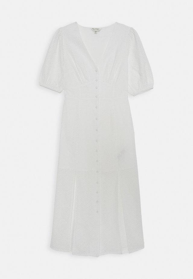 BRODERIE BUTTON THROUGH MAXI - Korte jurk - ivory