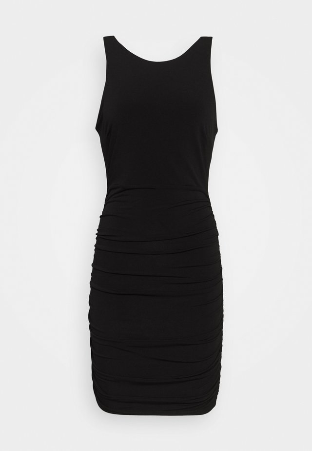 BACKLESS DRESS - Vestido de tubo - black