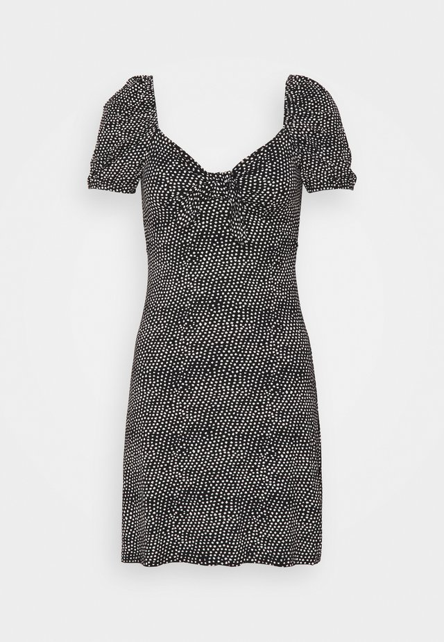 KNOT FRONT TEA DRESS ALI - Korte jurk - black