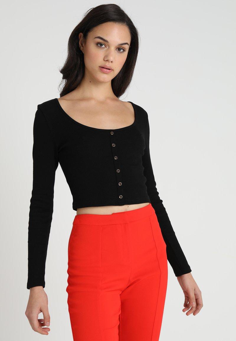Miss Selfridge - SCOOP NECK - Langarmshirt - black