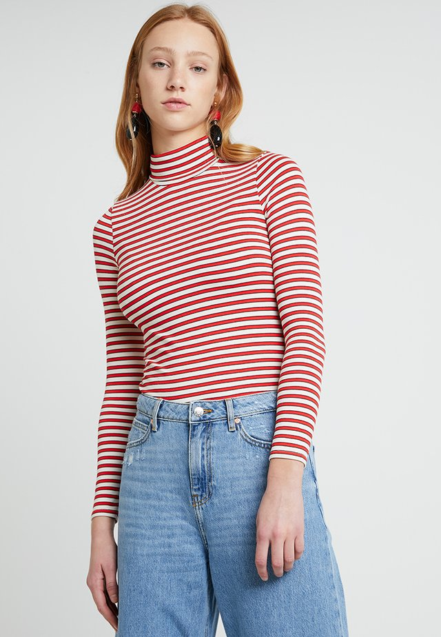 ROLL NECK - Long sleeved top - red