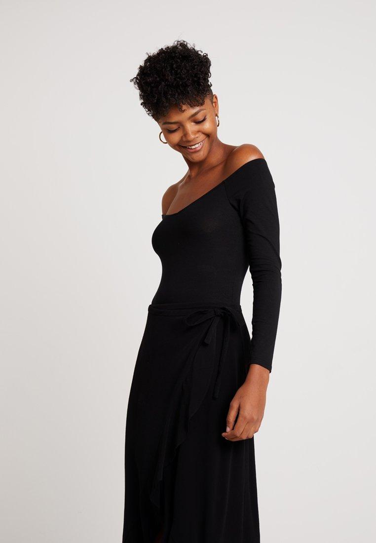 Miss Selfridge - BALLET NECK BODY TRIAL - Langarmshirt - black exclusive