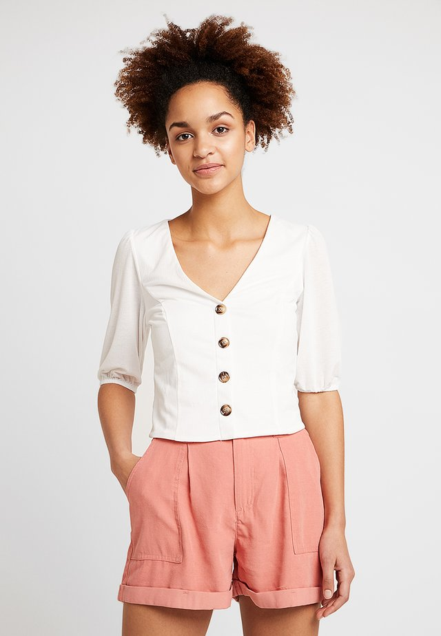 SWEETHEART BUTTON THROUGH - T-shirts print - ivory