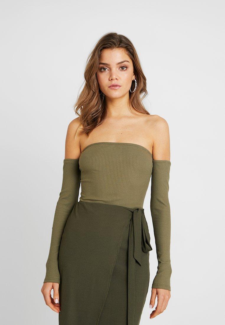 Miss Selfridge - BARDOT BODY - Long sleeved top - khaki