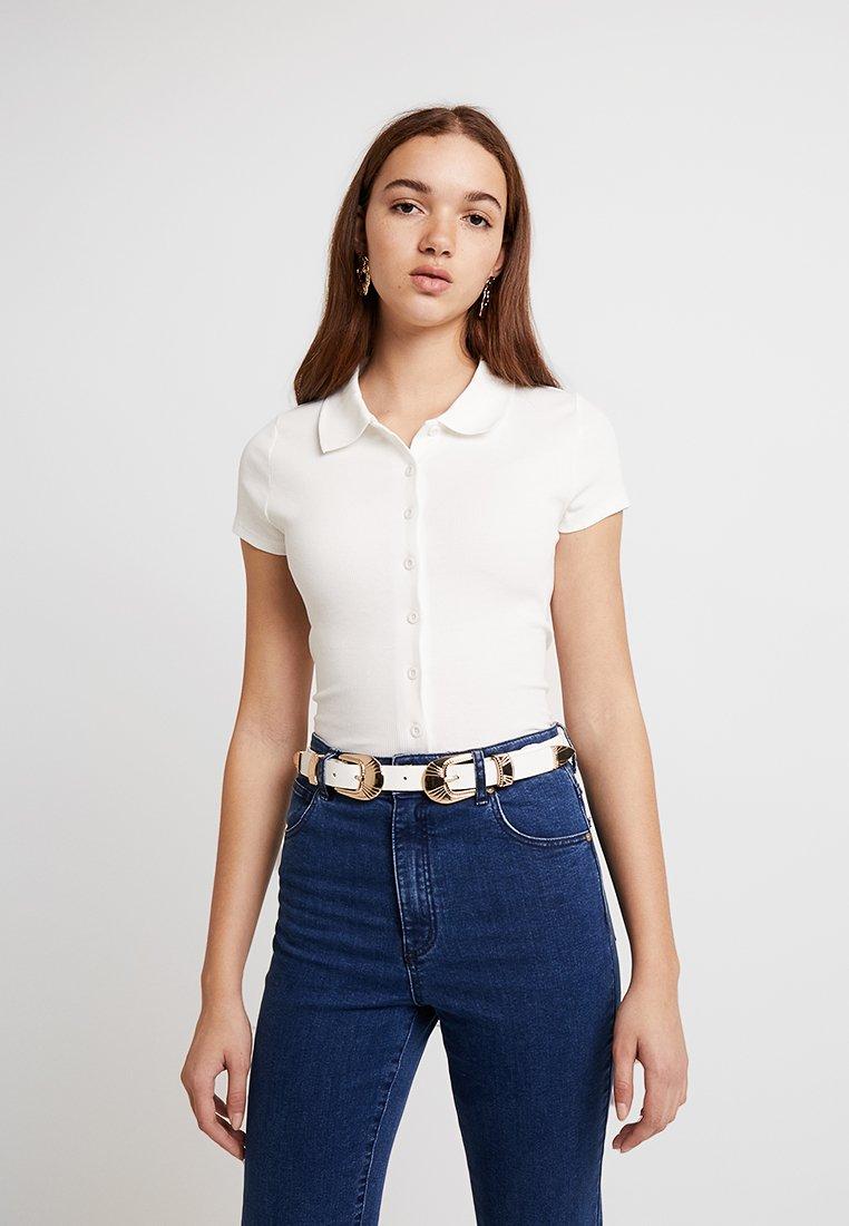 Miss Selfridge - THROUGH - T-Shirt print - white